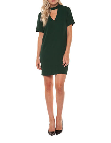 Dex Short Sleeve Cut-Out Dress-GREEN-X-Small