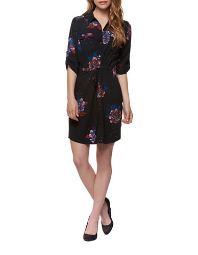 Dex Floral Shirt Dress-ASSORTED-Small