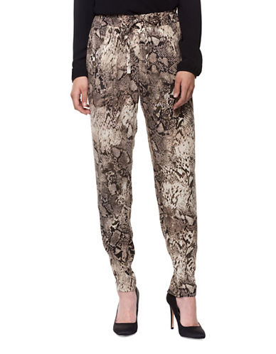 Dex Animal Print Pants-SNAKE PRINT-X-Small