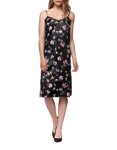 Dex Floral Midi Length Slip Dress-PINK MULTI-Medium