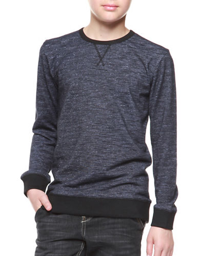 Dex Banded Cotton Sweater-NAVY-8-10