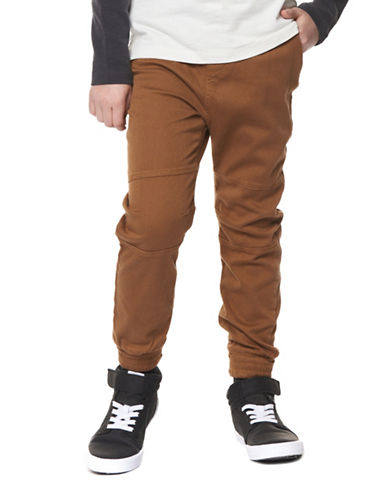 Dex Pull-On Twill Joggers-BROWN-Medium