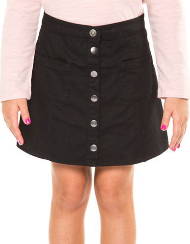Dex Snap Pocket Skirt-BLACK-7