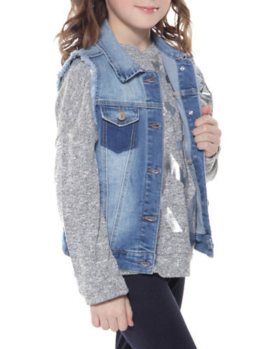 Dex Washed Denim Vest-BLUE-Small