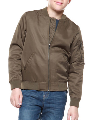 Dex Zip-Front Bomber-GREEN-18-20