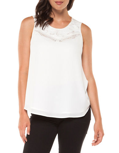 Dex Crochet Roundneck Top-WHITE-Small