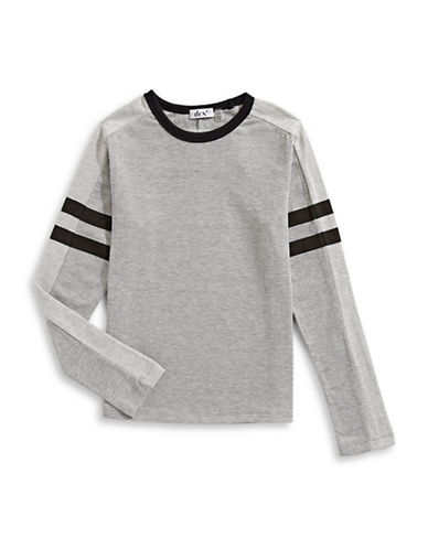 Dex Pullover Knit Tee-GREY-10-12