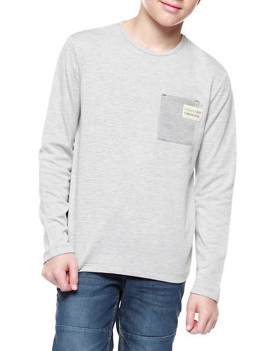 Dex Striped Long Sleeve Tee-GREY-8