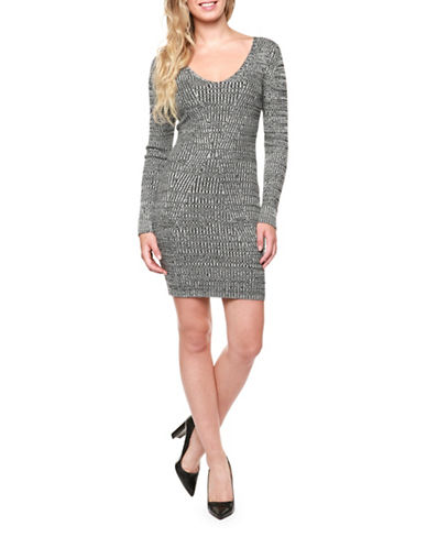 Dex A-Line Sweater Dress-GREY-Large