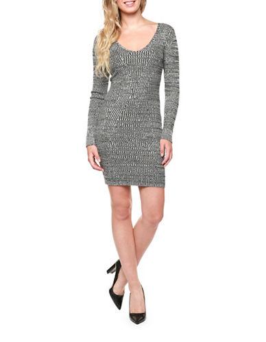 Dex A-Line Sweater Dress-GREY-X-Large