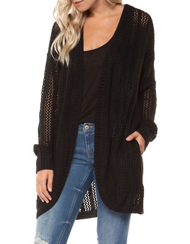 Dex Round Hem Cardigan-BLACK-Large