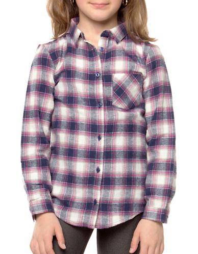 Dex Woven Plaid Shirt-RED-5