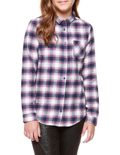 Dex Woven Plaid Shirt-RED-Small
