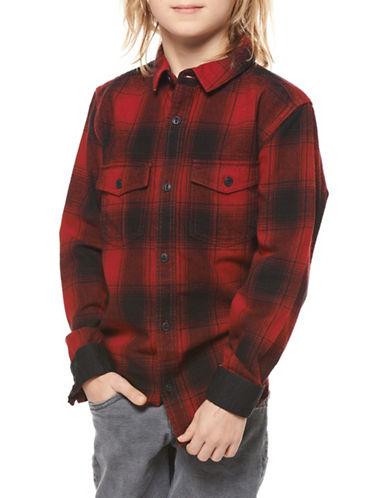 Dex Plaid Cotton Shirt-RED-18-20