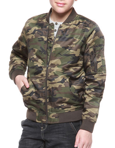 Dex Camo Bomber Jacket-GREEN-18-20