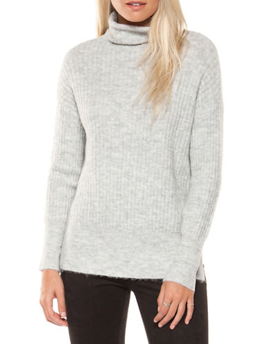 Dex Ribbed Turtleneck Sweater-GREY-Large 89612202_GREY_Large