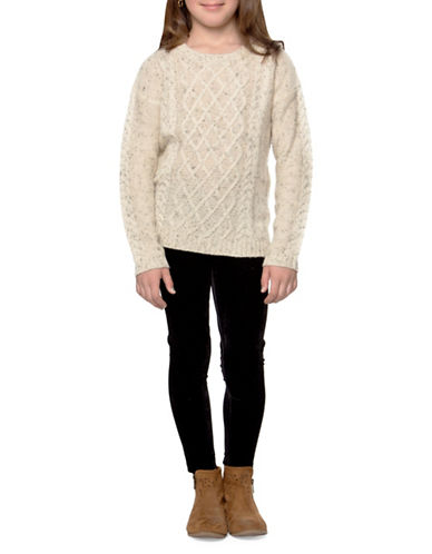 Dex Speckle Cable-Knit Sweater-IVORY-6