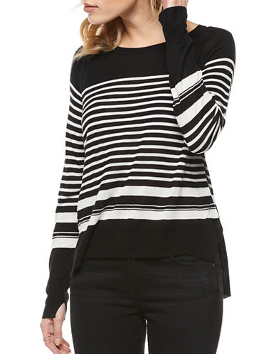 Dex Striped Sweater-BLACK MULTI-Small