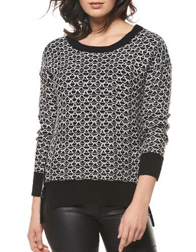 Dex Reverse Stitch Sweater-BLACK MULTI-Large