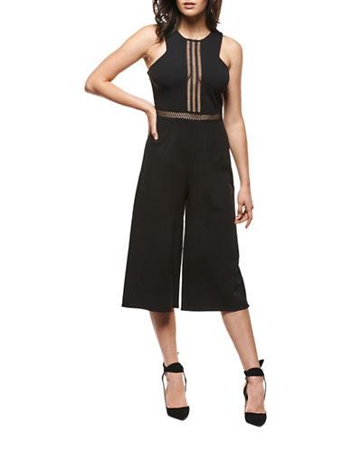 Dex Culotte Crochet Jumpsuit-BLACK-Large