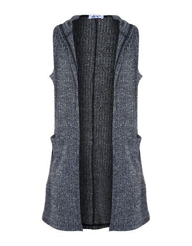 Dex Hooded Knit Vest-GREY-Large