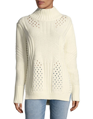 Dex Cableknit Turtleneck Sweater-NATURAL-Medium