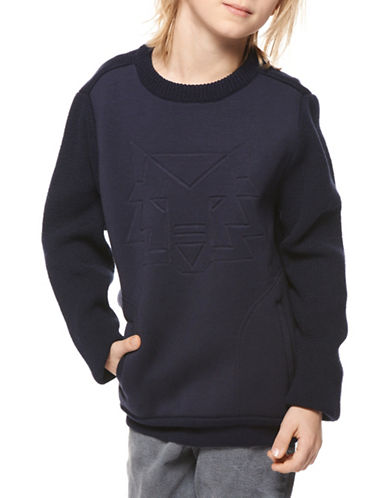 Dex Embossed Pullover-BLUE-12
