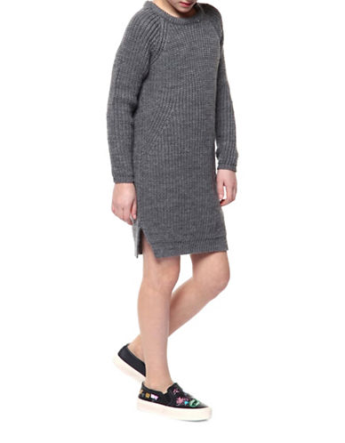 Dex Pull-On Sweater Dress-GREY-Small