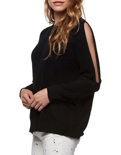 Dex Open Back Ribbed Sweater-BLACK-Small
