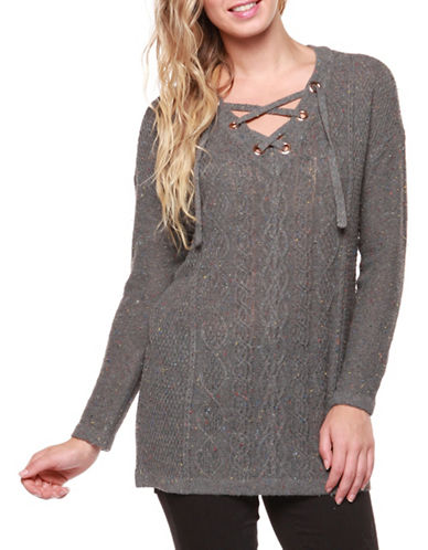 Dex Drop Shoulder Sweater-GREY-X-Small
