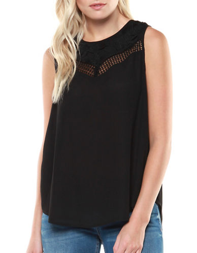 Dex Crochet Tank Top-BLACK-Large 89612082_BLACK_Large