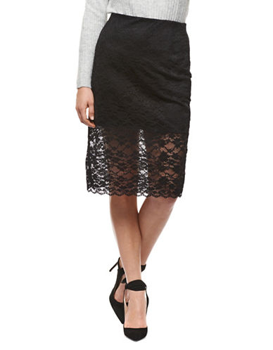 Dex Lace Midi Skirt-BLACK-Medium