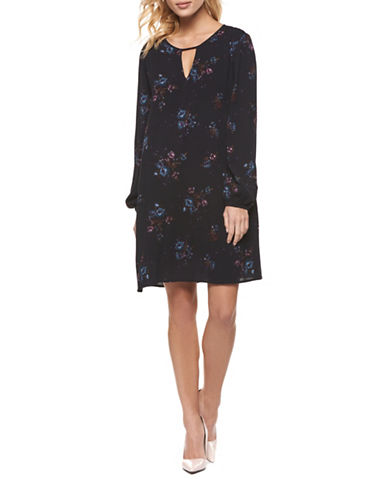Dex Floral Shift Dress-MULTI-Small