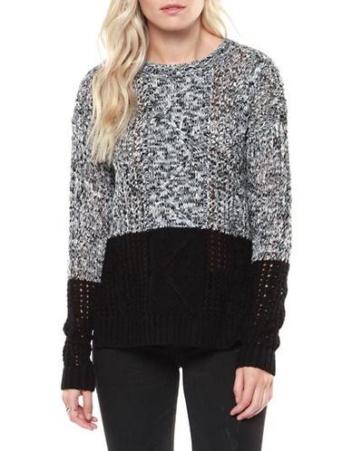 Dex Hi-Lo Cableknit Sweater-GREY-Large