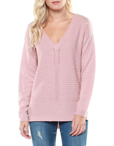 Dex V-Neck Sweater-PINK-Medium