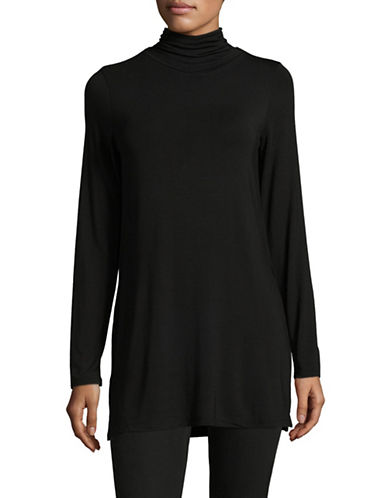 Dex High Neck Tee-BLACK-Small