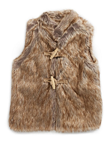 Dex Faux-fur Vest-BROWN-4