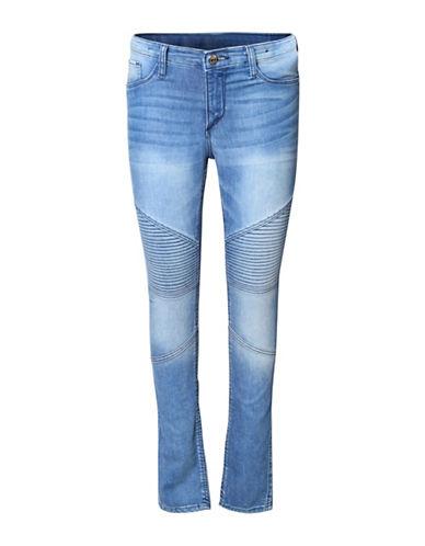 Dex Moto Biker Flare Jeans-BLUE-14