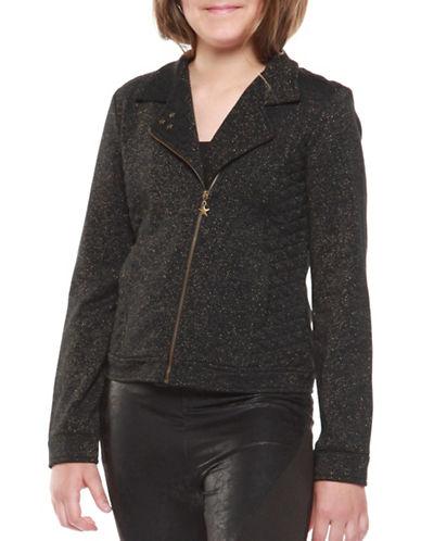 Dex Star Embellished Biker Jacket-BLACK-Large