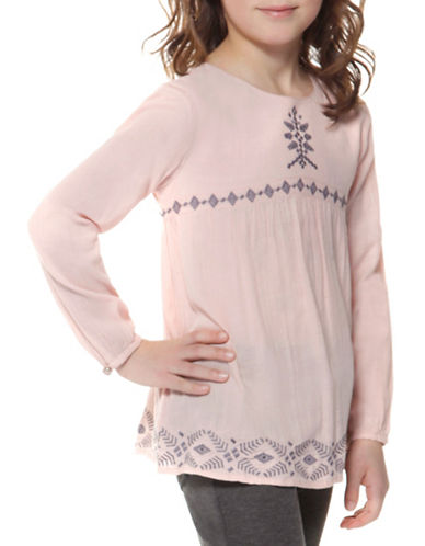 Dex Woven Long Sleeve Top-PINK-6X
