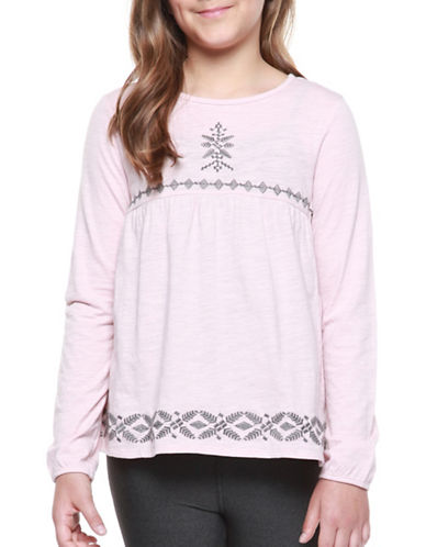 Dex Woven Embroidered Top-PINK-Small