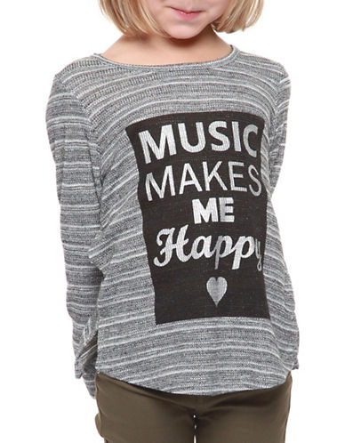 Dex Round Neck Striped Sweater-GREY-5