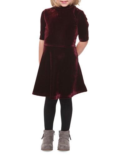 Dex Velvet A-Line Dress-VIOLET-5
