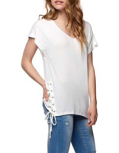 Dex Lace-Up Side Tee-IVORY-Medium