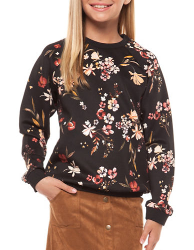 Dex Printed Round Neck Pullover-MULTI-Small