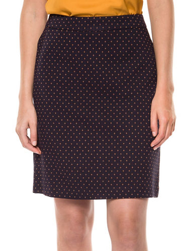 Dex A-Line Skirt-BLUE-X-Large
