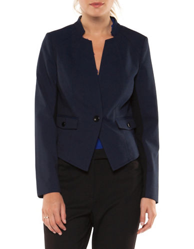 Dex Two-Toned Blazer-BLUE-X-Large