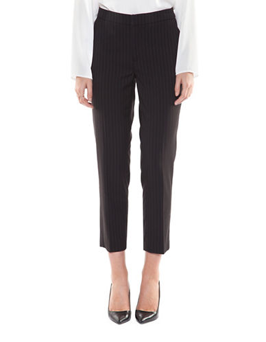 Dex Pinstripe Crop Pants-INDIGO/GREY-X-Small