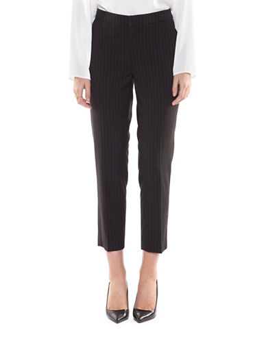 Dex Pinstripe Crop Pants-BLACK STRIPE-X-Small