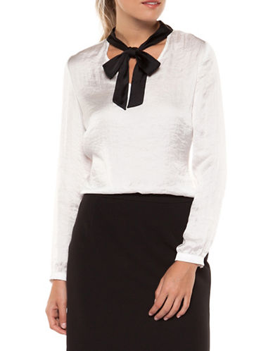 Dex Bow-Tie Blouse-IVORY-X-Large
